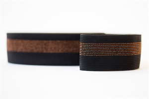 Picture of Elastic waistband - Black with Copper Lines