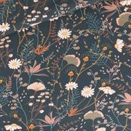 Afbeelding van Flower Field - M - French Terry - Nachtblauw