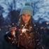 Bild von Flower Field - M - French Terry - Nachtblau