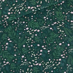 Picture of Flower Garden - M - Sergé Gabardine de Coton - Vert de l'épinette très foncé