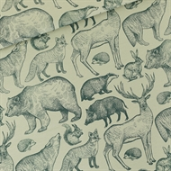 Picture of Forest Animals - L - French Terry - Gray Aqua